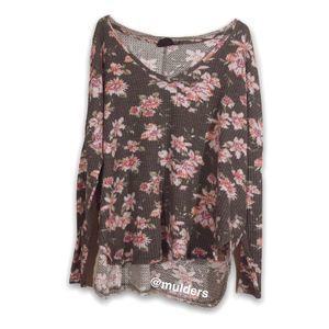 Urban Outfitters Floral Tunic Sweater